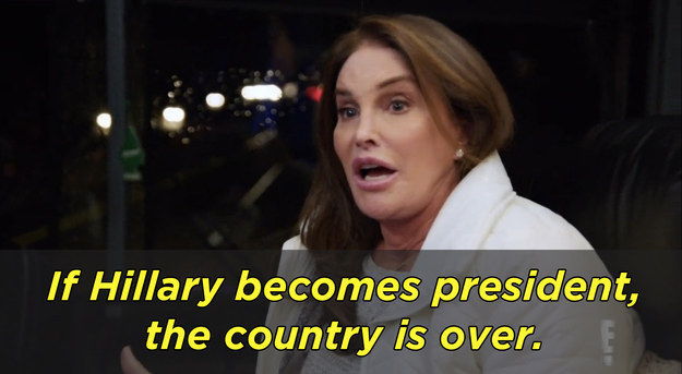 And on the other end of the spectrum, Caitlyn Jenner has staunchly opposed Clinton for quite some time.