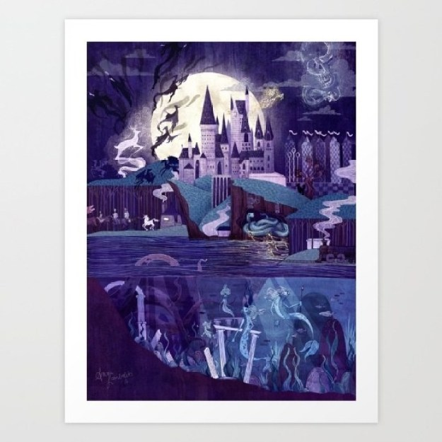 A Hogwarts art print that will help you feel at home.