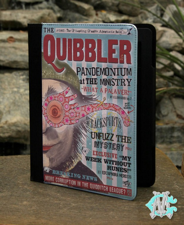 A Quibbler Kindle case, because the Daily Prophet sucks.