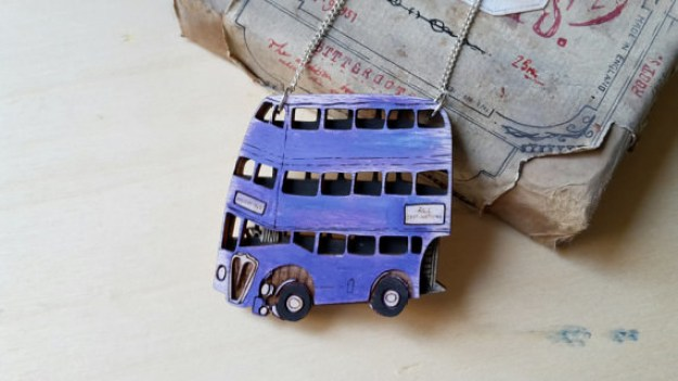 A Knight Bus necklace that is the only form of transportation you'll need.