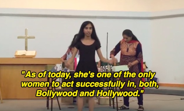 Priya Shah, a seventh-grader from Orchid Lake Middle School in Detroit, recently created a 14-minute presentation on the life and success of Priyanka Chopra.