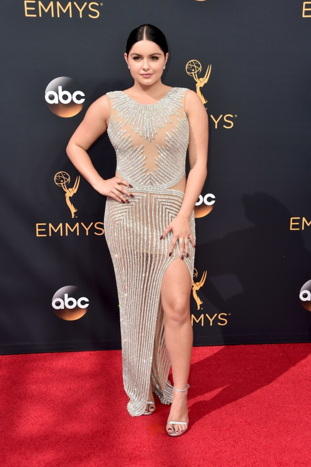 Or go super luxe and just bead it like Ariel Winter: