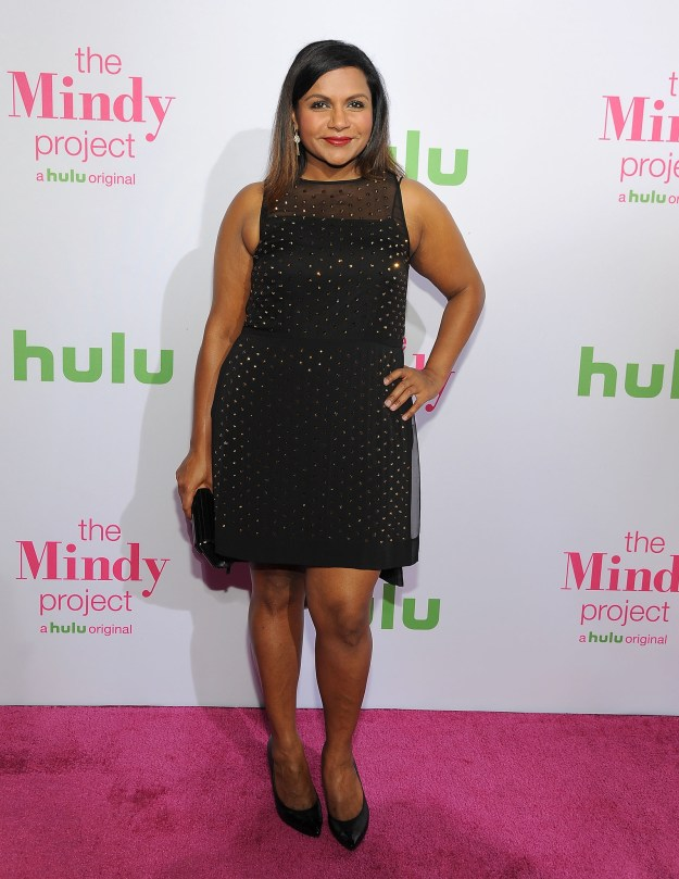 Or go short and sparkly like Mindy Kaling: