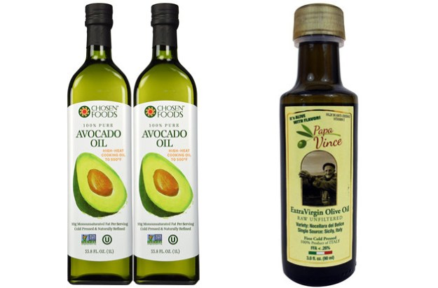 Cook with oils like olive oil and avocado oil because they're not as processed as some other oils, like canola.