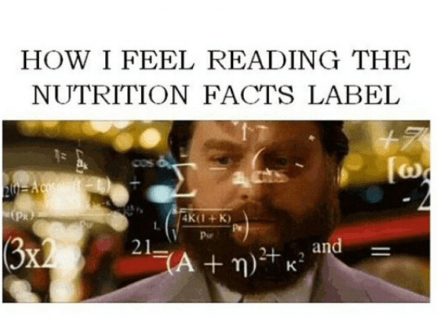 Actually read the ingredients on a nutrition label. If it doesn't make sense, look for a less processed version.