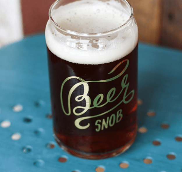 A can-shaped glass for beer snobs.