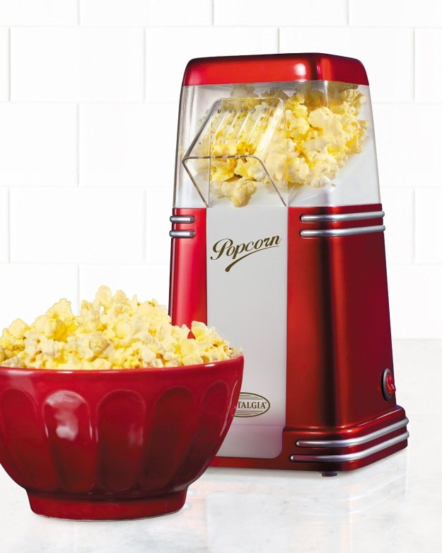 A retrohot air popcorn popper that'll fit right on a countertop.