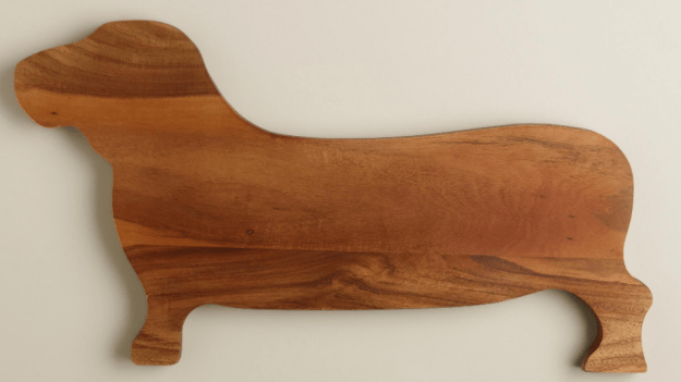 A cutting board for anyone who likes their dogs to be long and low to the ground.