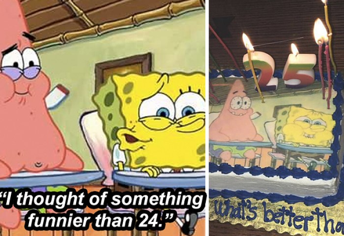 Spongebob Fans Are Loving The Birthday Cake A Girl Got Her Brother