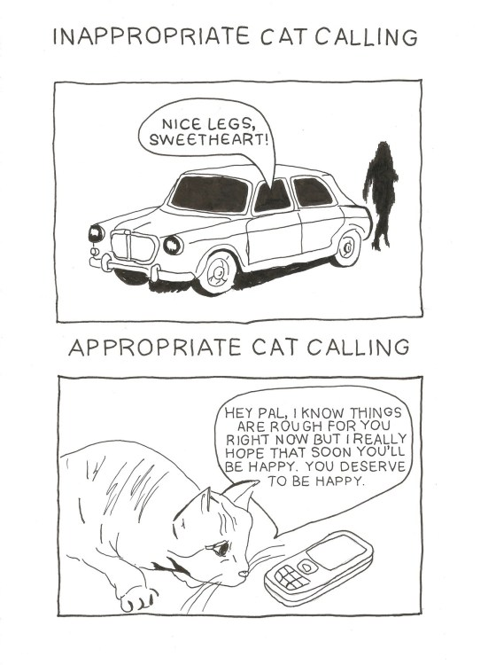 catcall appropriate illustration