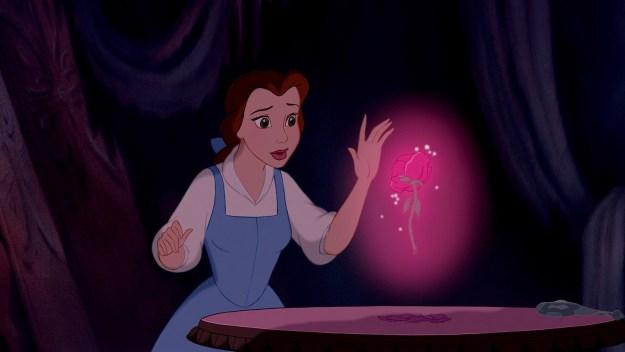 O que acontece se a Bela tocar na rosa?