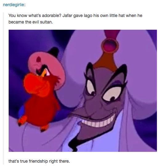 Jafar and Iago were kinda cute.