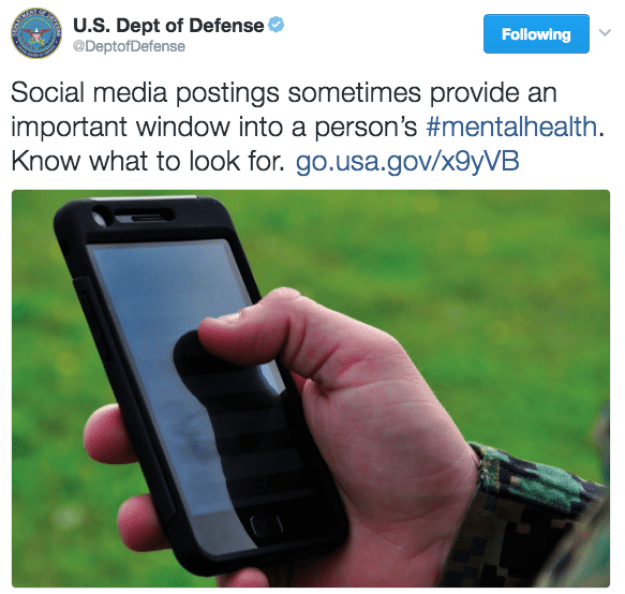 So when the Department of Defense on Monday tweeted this...