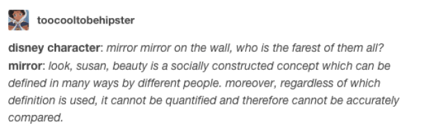 If mirrors were eloquent: