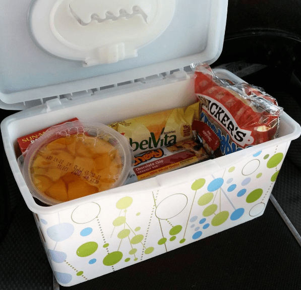 It's the ideal size for a kid's hands — and you can even keep food cold by putting a reusable ice pack at the bottom. Via practicalparentingideas.