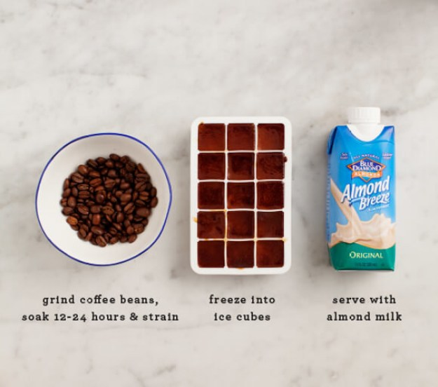 Swap regular ice cubes for cold-brew coffee cubes and amp up your favorite DIY drinks.