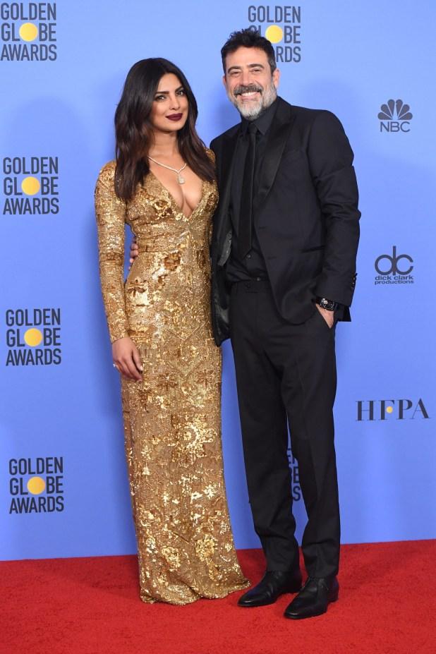 Priyanka also presented the Best Actor in A TV Series (Drama) award alongside Jeffrey Dean Morgan.