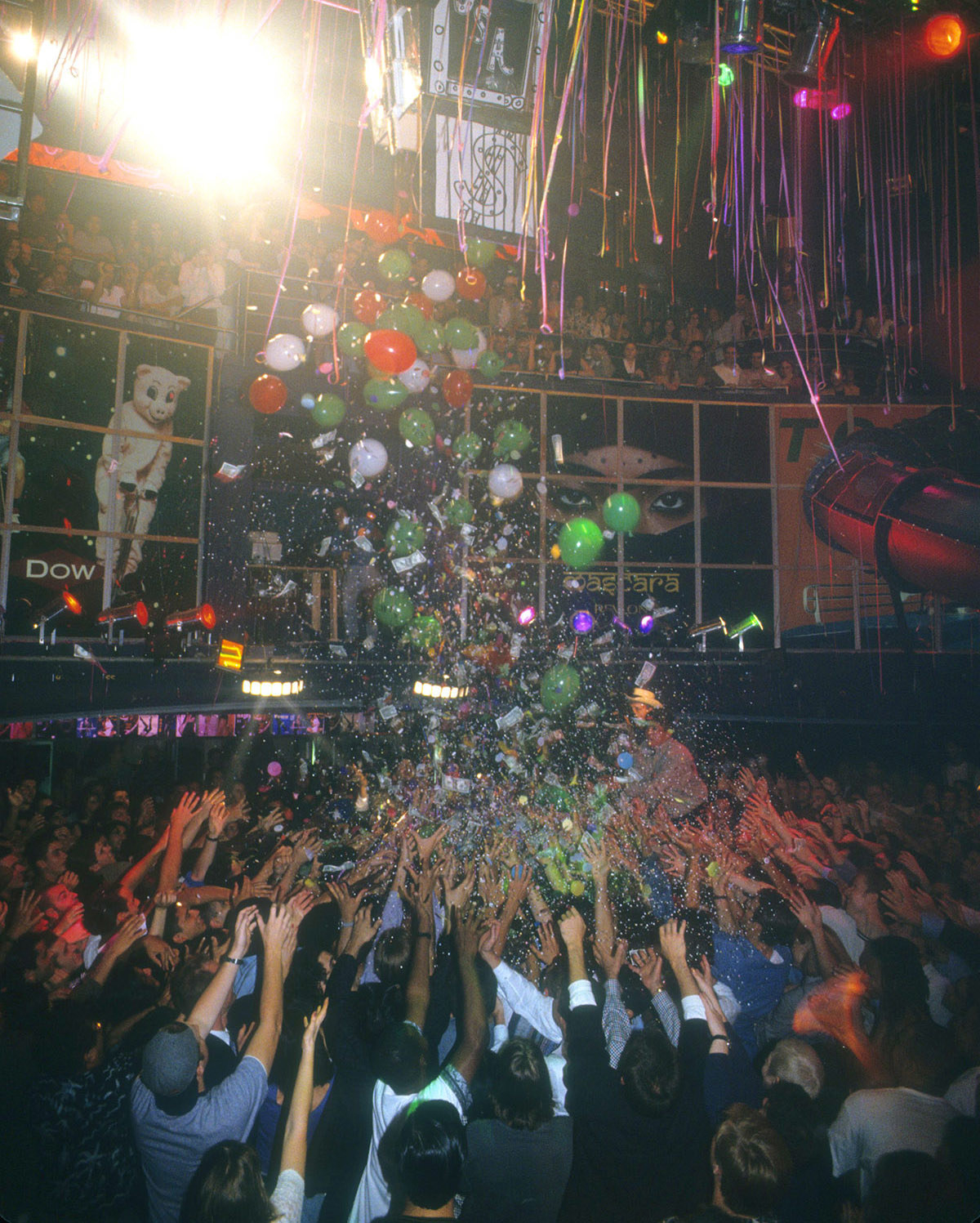 Dancers and partygoers celebrate at Club USA in 1993.