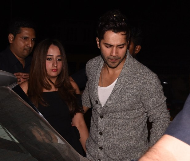 Varun Dhawan arrived with his girlfriend Natasha Dalal, but the couple didn't seem excited to be greeted by the paparazzi.