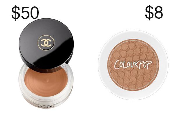 Por que pagar tanto por Chanel's Bronzing Maquiagem Base quando você pode obter o mesmo olhar com Color Pop's Bronzer?