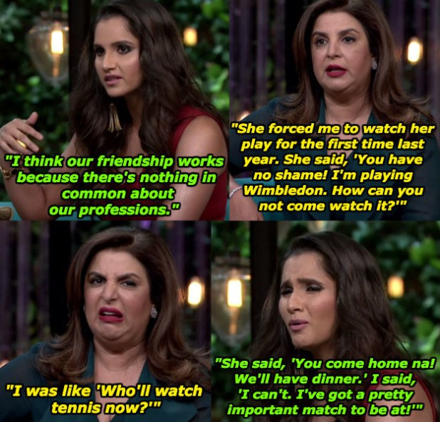When Farah and Sania shared this beautiful anecdote.