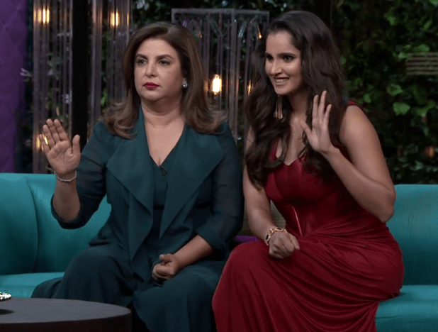 Sania Mirza and Farah Khan were tonight's guests on Koffee with Karan.