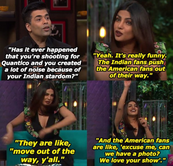 When Priyanka Chopra spoke of her Indian fans having zero chill.