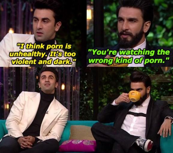 When Ranveer Singh wanted Ranbir Kapoor to have an evolved understanding of porn.