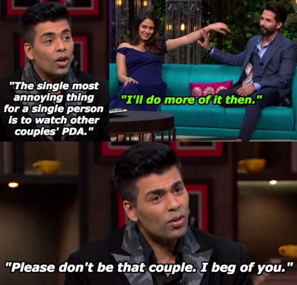When Mira Rajput and Shahid Kapoor made Karan feel painfully single.