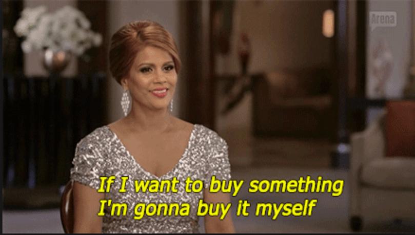 'Se eu quiser comprar algo, eu mesma compro.'