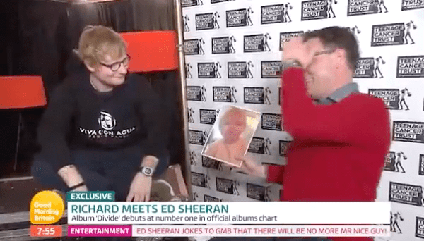 Well, now even Ed Sheeran has been faced with the hilarious resemblance. He was shown the photo while appearing on Good Morning Britain on Wednesday.