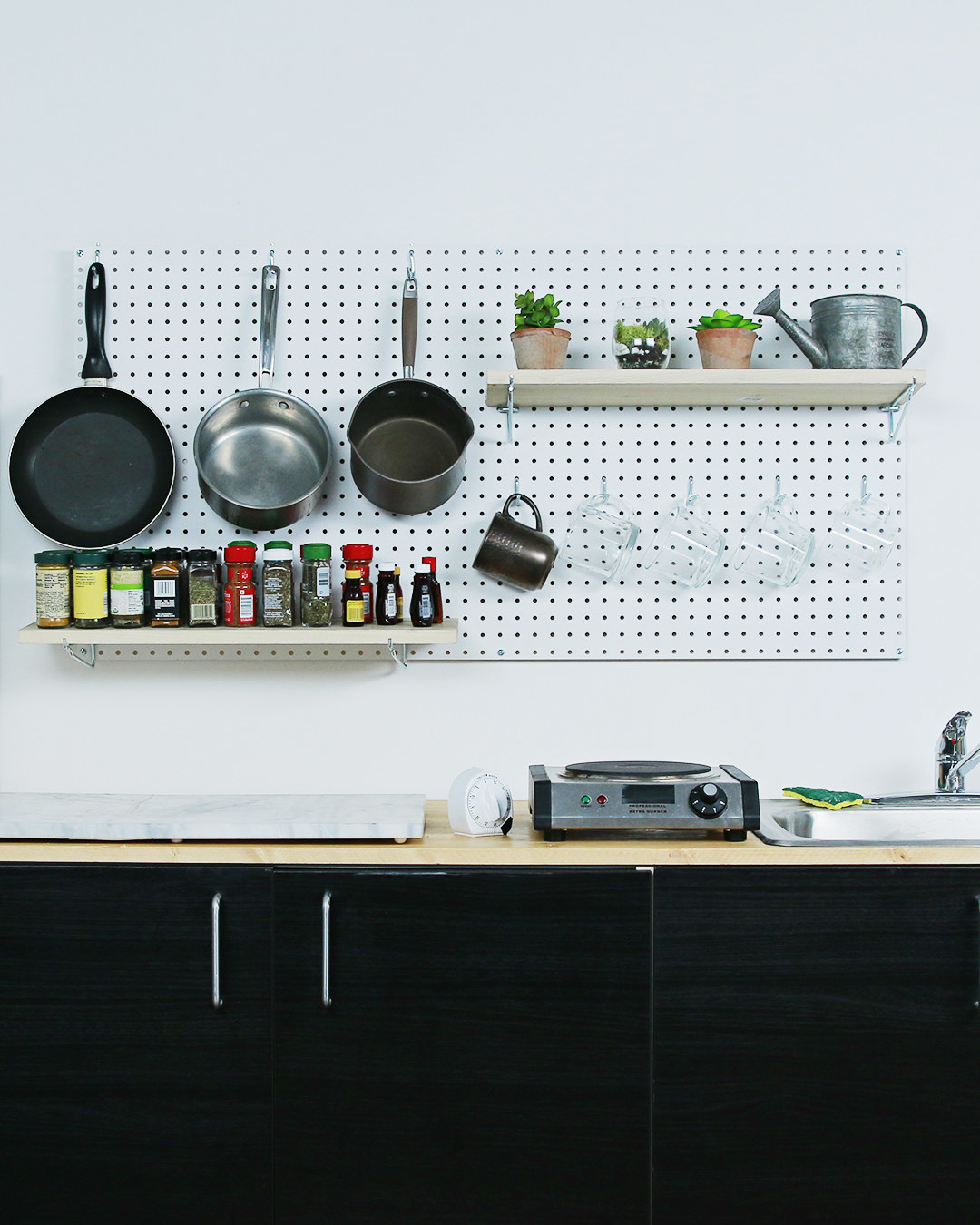 kitchen pegboard value city furniture sets get your shit together with this organizer