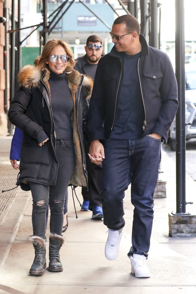 And here they are strolling through Soho in New York City with stars in their eyes.