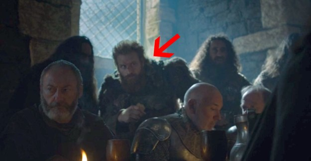 Meanwhile, Tormund (post-biting someone's neck off in the Battle of the Bastards!) was just chilling with Jon, er, the King in the North at Winterfell.
