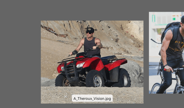 """First from my collection, is a vacation candid called """"A_Theroux_Vision.jpg."""""""