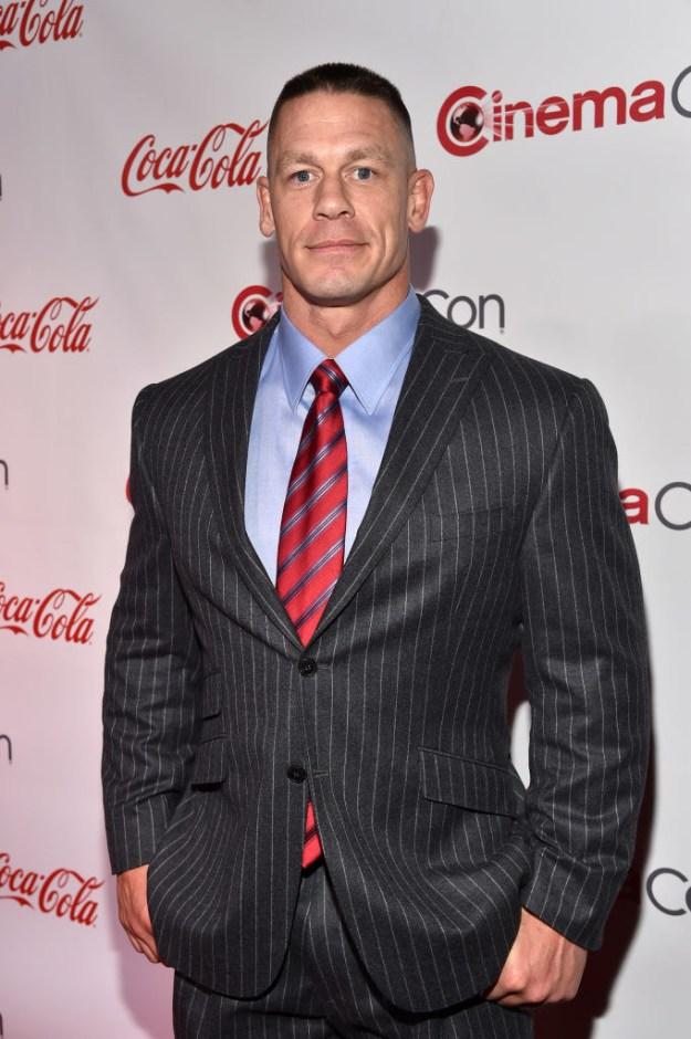 This is John Cena, a former pro wrestler who now acts in movies.
