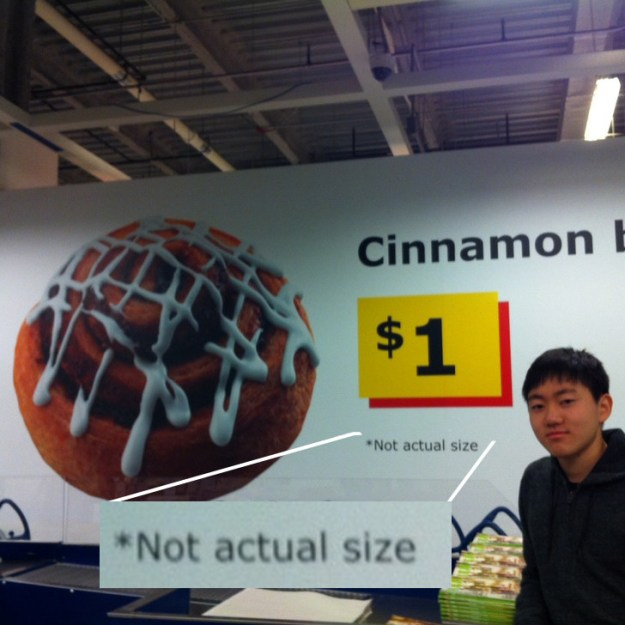 When they felt that this clarification was needed on their cinnamon buns.