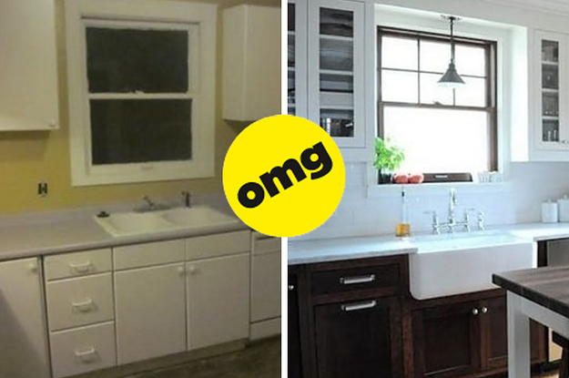 kitchen make over utensil holder ideas 19 makeover before and afters that will your jaw drop