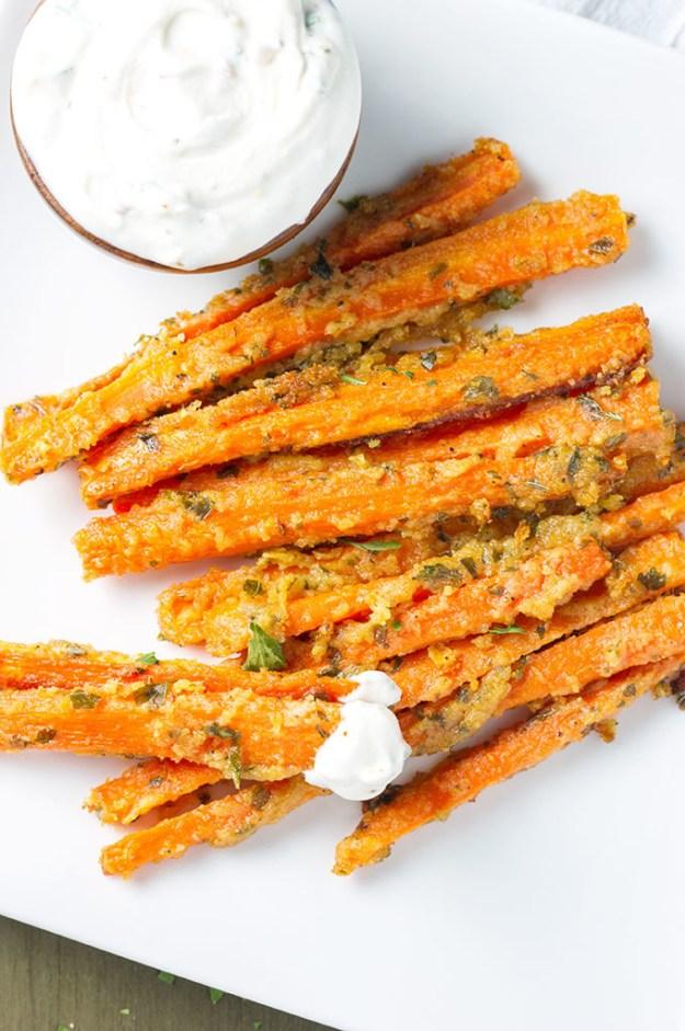 Garlic Parmesan Carrot Fries