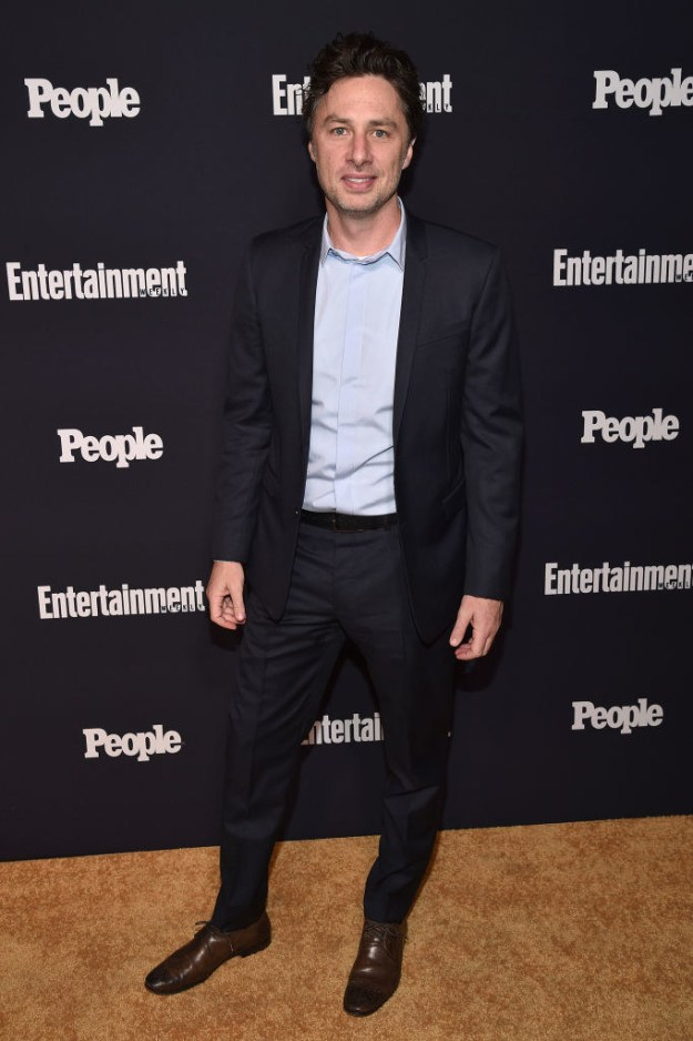Last night, Zach Braff attended the Entertainment Weekly and People Upfronts party.