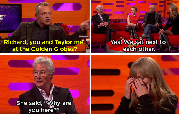 When Richard Gere called out Taylor Swift for not knowing who he was: