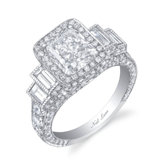 The 4.25 carat ring is the biggest in Bachelor franchise history. It has one big diamond in the center and over 240 smaller diamonds surrounding it. Oh, and it's worth $100K.