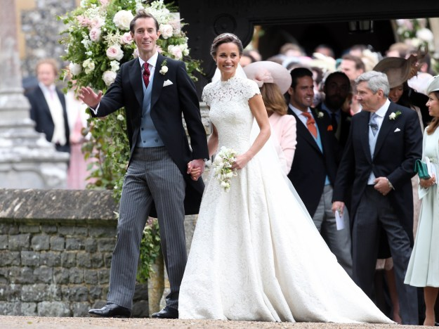Pippa Middleton, sister of the Duchess of Cambridge, just got married in the most aesthetic dress to James....etc etc etc.