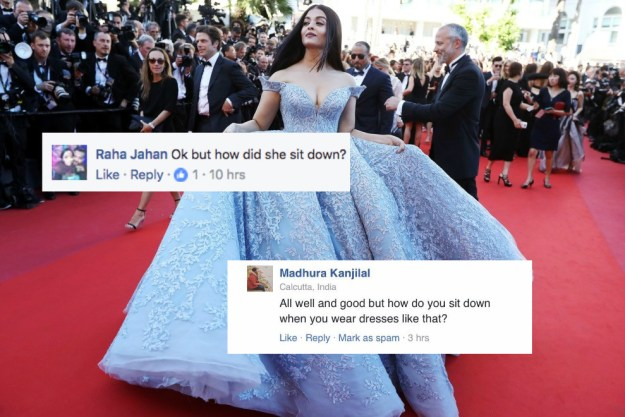 But there was one totally fair question about the dress that popped into everyone's mind.