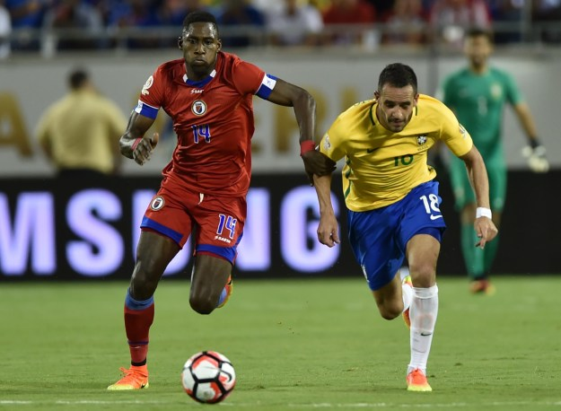 That time in the 2016 South American Football Championship when James Marcelin scored Haiti's first goal against Brazil, making him a national hero — especially poignant since he had been a survivor of the devastating 2010 Haiti earthquake.