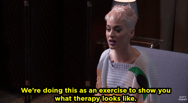 She said she did the video to show viewers what a therapy session looks like.