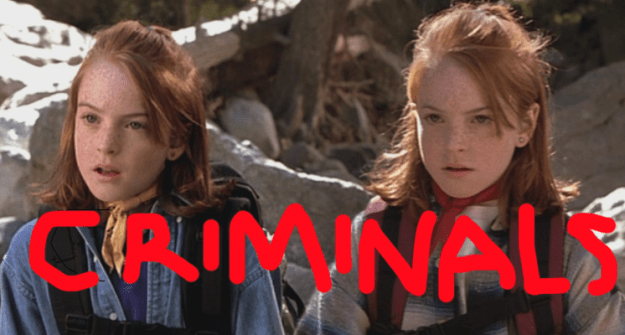 But during my most recent viewing, I realized something EXTREMELY MESSED UP about the movie, and I feel it's my solemn duty to share it with you: About 30 minutes into the film, the twins commit an actual international crime.
