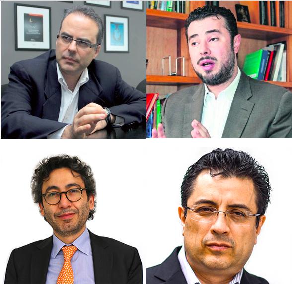 Arriba: Juan Pardinas (IMCO) y Mario Patrón (Centro Prodh).Abajo: Salvador Camarena y Daniel Lizárraga (Mexicanos Contra la Corrupción).