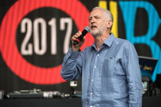 "Labour leader Jeremy Corbyn appeared on the Pyramid stage at Glastonbury on Saturday to deliver a speech denouncing inequality and appealing for a society in which ""everybody matters."""