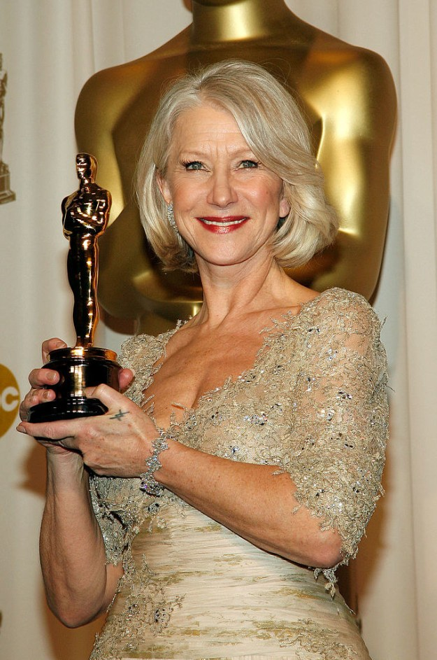 And this is Helen Mirren, one of the most celebrated actors of all time.